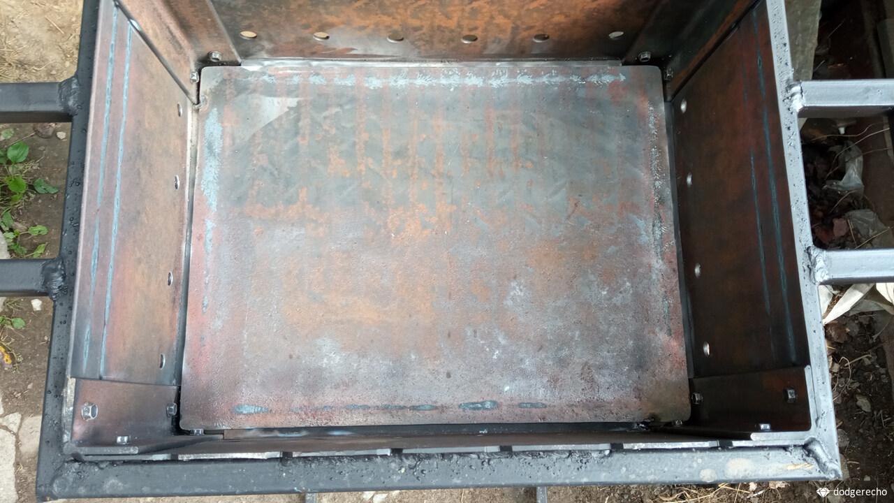 Усиление мангала и покраска жаропрочной краской до 800 градусов
